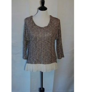 About A Girl Brown Knitted Sweater Size S